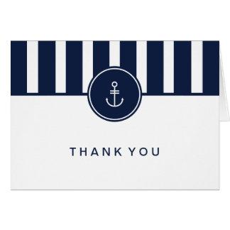La marina de guerra náutica le agradece cardar tarjeta pequeña