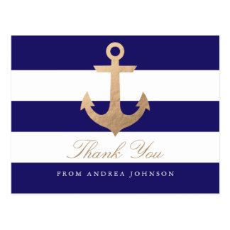 La marina de guerra náutica le agradece tarjeta postal