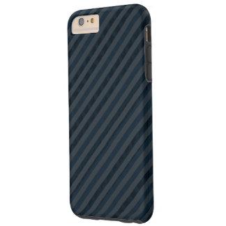 La marina de guerra oscura y el gris azul raya la funda de iPhone 6 plus tough