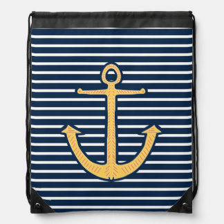 La marina de guerra raya el ancla mochilas