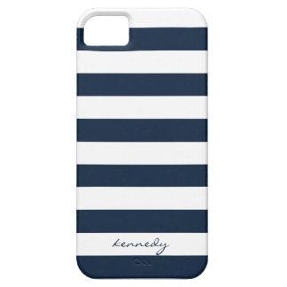 La marina de guerra raya la caja personalizada iPhone 5 carcasas