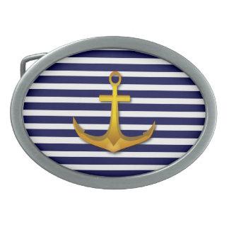 La marina de guerra raya la hebilla del cinturón hebillas cinturon ovales