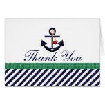 La marina de guerra y el ancla náutica del verde l felicitaciones