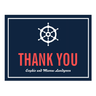 La marina de guerra y el timón náutico coralino le postal