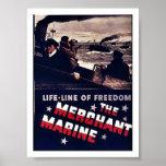 La marina mercante poster