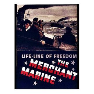 La marina mercante tarjeta postal