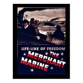 La marina mercante postal