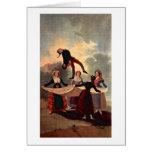 La marioneta de Francisco De Goya Tarjeta