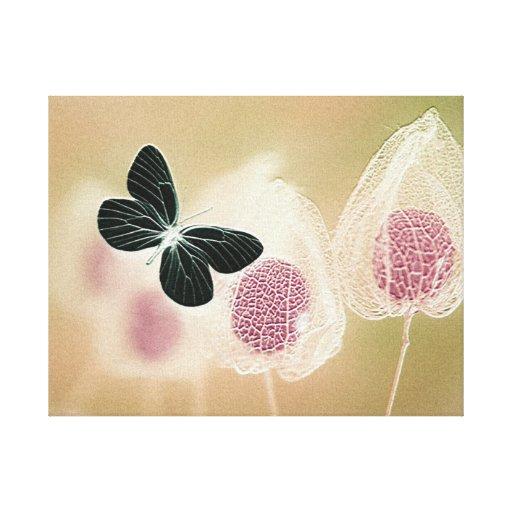 La mariposa 2 estiró la impresión de la lona lona estirada galerias