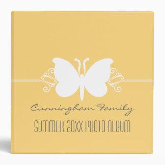 La mariposa amarilla suave remolina carpeta (2