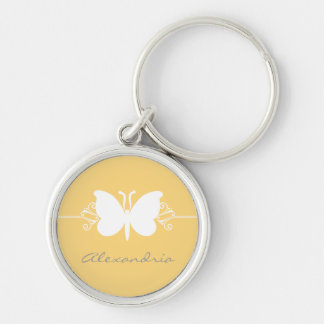 La mariposa amarilla suave remolina llavero superi