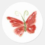 La mariposa anaranjada 3 de Kolleen Pegatina Redonda