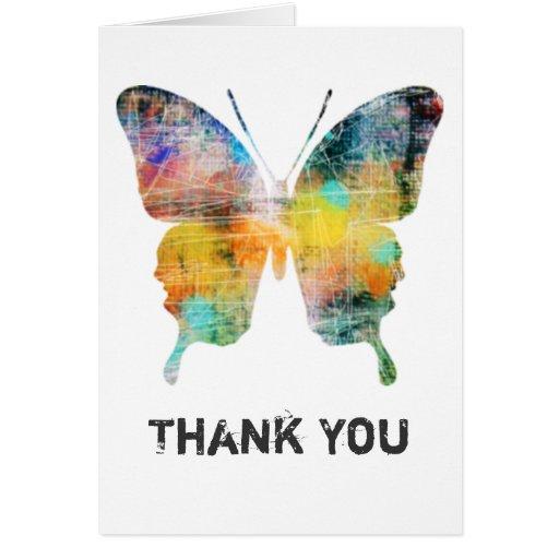 La mariposa artística le agradece las tarjetas