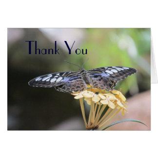 La mariposa azul de las podadoras le agradece card tarjeta pequeña