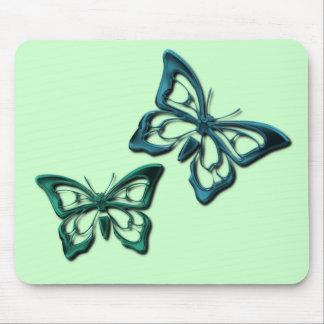 La mariposa azul diseña el cojín de ratón alfombrillas de ratón