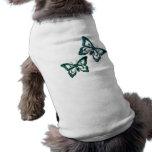 La mariposa azul diseña la camisa del perro ropa perro