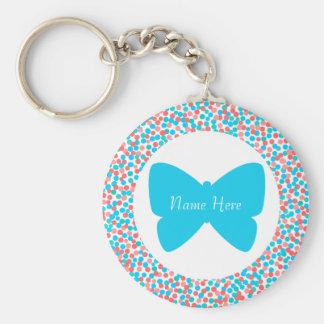 La mariposa azul puntea el llavero - plantilla