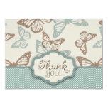La mariposa besa el trullo de la tarjeta 2 de TY Invitación 12,7 X 17,8 Cm