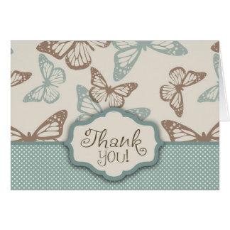 La mariposa besa el trullo de la tarjeta de TY