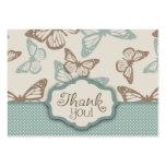 La mariposa besa el trullo de TY Notecard Tarjetas De Visita Grandes