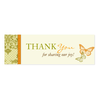 La mariposa besa la tarjeta flaca encantadora de tarjetas de visita mini