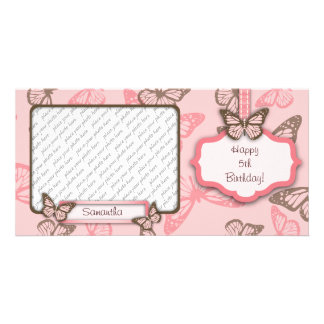 La mariposa besa PhotoCard II Tarjetas Personales