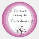 La mariposa Bookplates-Este libro pertenece a las