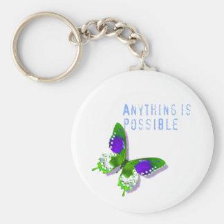 La mariposa cualquier cosa es llavero posible