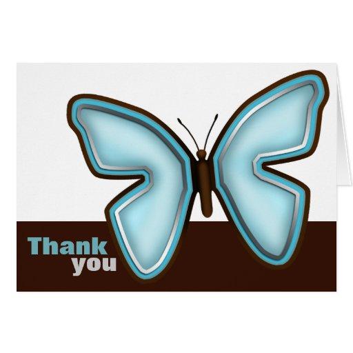 """La mariposa de Brown y de la turquesa """"le agradece Felicitaciones"""