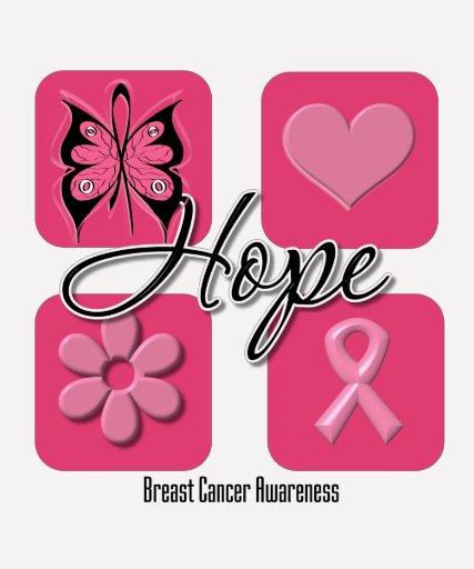 La mariposa de la esperanza inspira - al cáncer de polera
