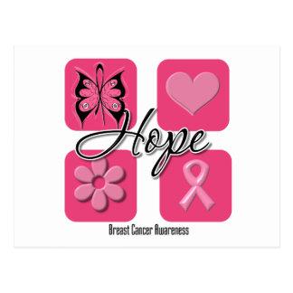 La mariposa de la esperanza inspira - al cáncer de tarjeta postal