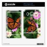 La mariposa de monarca en la flor HTC inspira la p HTC Inspire 4G Calcomanía