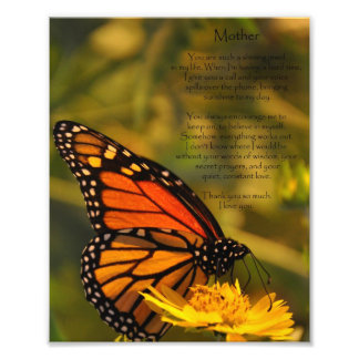 """La mariposa de monarca """"le agradece mimar"""" a la im impresión fotográfica"""