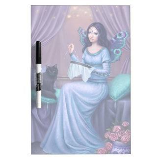 La mariposa de pavo real de Ariadne de hadas seca Tableros Blancos