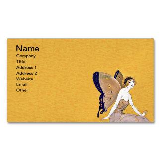 La mariposa del vintage se va volando el pelo tarjetas de visita magnéticas (paquete de 25)