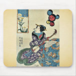 La mariposa en la violación florece por Utagawa, T Tapetes De Ratones