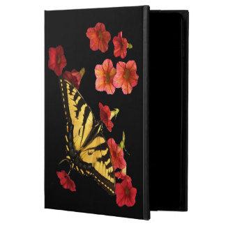 La mariposa en rojo florece la caja del aire 2 del