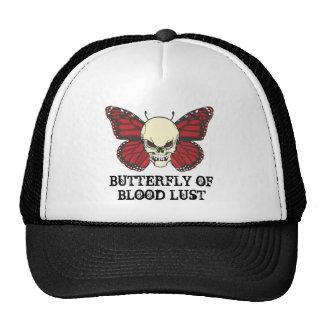 La mariposa enojada de la lujuria de la sangre gorras