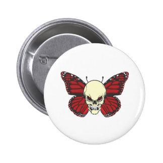 La mariposa enojada de la lujuria de la sangre pin redondo de 2 pulgadas