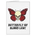La mariposa enojada de la lujuria de la sangre tarjeton