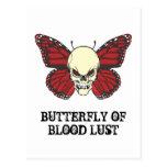La mariposa enojada de la lujuria de la sangre postal