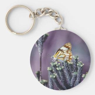 La mariposa Flitter vintage del alboroto Llaveros Personalizados