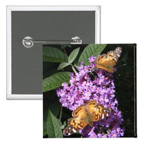 La mariposa hermana el botón del ~ pin
