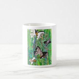 La mariposa Jewels la taza