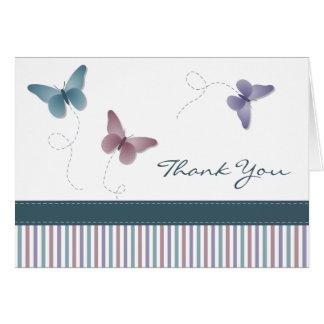 La mariposa le agradece cardar tarjeta
