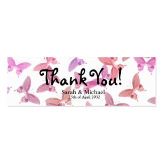 "La mariposa 'le agradece"" etiqueta del regalo del  tarjeta de visita"