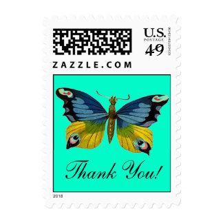 ¡La mariposa le agradece! Sellos de oro azules del