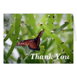 La mariposa le agradece tarjeta pequeña