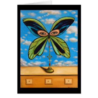 La mariposa más grande tarjeta de felicitación