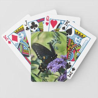 La mariposa negra en mariposa Bush-personaliza Cartas De Juego